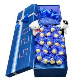 甜蜜思恋-19颗巧克力,一对小熊