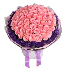 不变的心-戴安娜玫瑰66枝