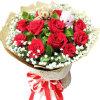 我们的幸福-11朵红玫瑰,一对小熊,满天星、栀子叶点缀小图