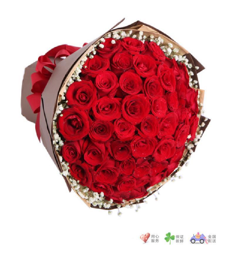 热恋-红玫瑰50枝-鲜花速递