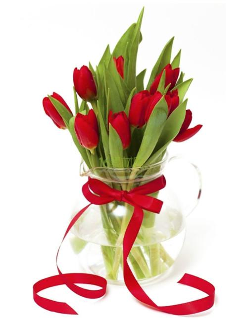 10枝红色郁金香