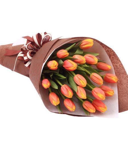 给你我的爱-19朵橙色郁金香