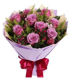 花袭人-紫玫瑰9枝,石竹梅