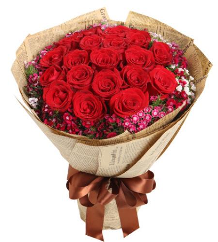 缘分天空-红玫瑰19枝
