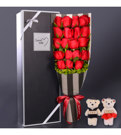 为爱绽放-19枝红玫瑰礼盒