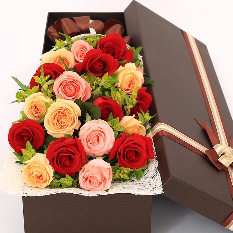 多彩玫瑰礼盒