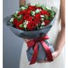 浪漫生活-红玫瑰19枝,白色相思梅0.5扎,栀子叶1扎