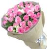 诠释爱情-33枝苏醒玫瑰,5-6枝白色桔梗小图