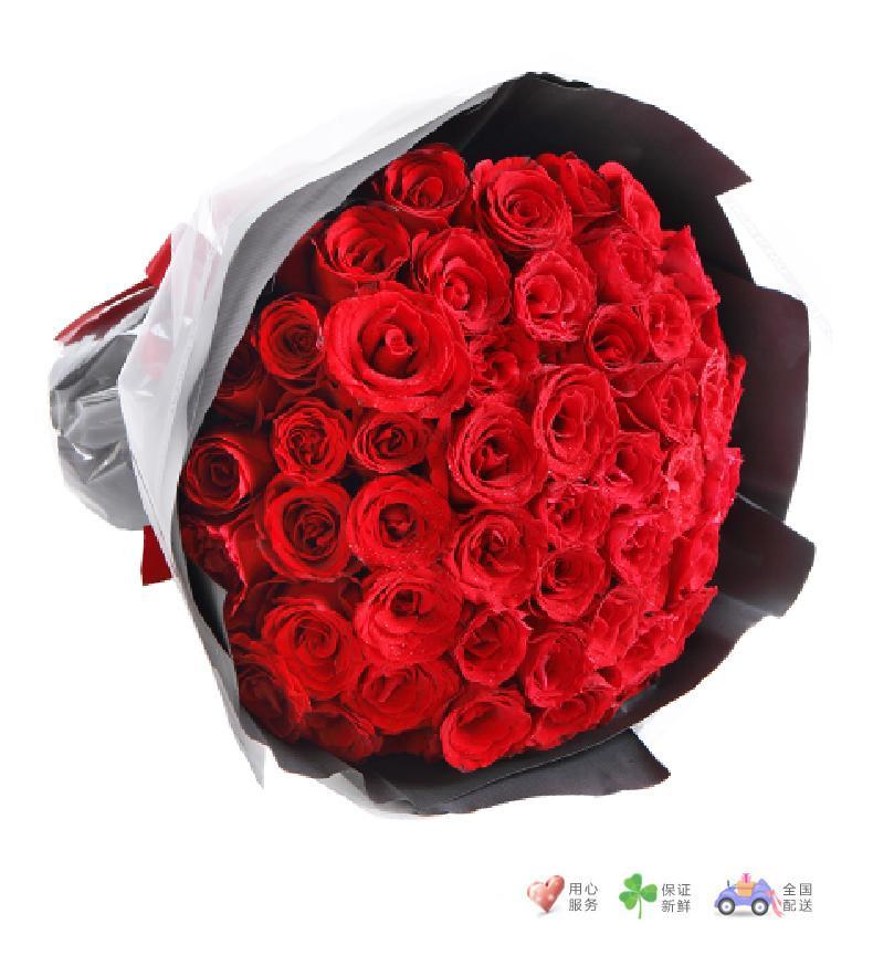 深情眷恋-66枝红玫瑰-鲜花速递