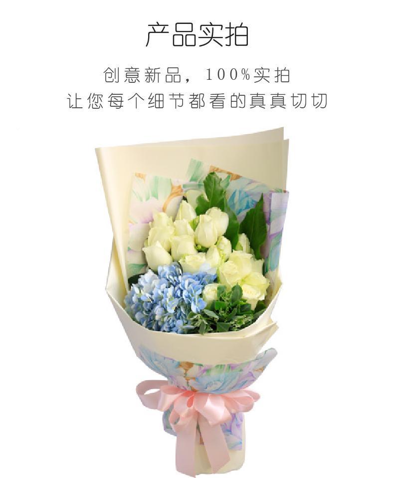 雪山之舞-雪山白玫瑰19枝实拍图片