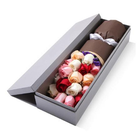 礼盒--粉玫瑰、香槟玫瑰、白玫瑰、红玫瑰1-1